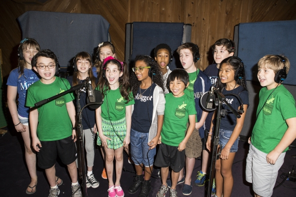Photo Coverage: In the Recording Studio with the Cast of Broadway's MATILDA!