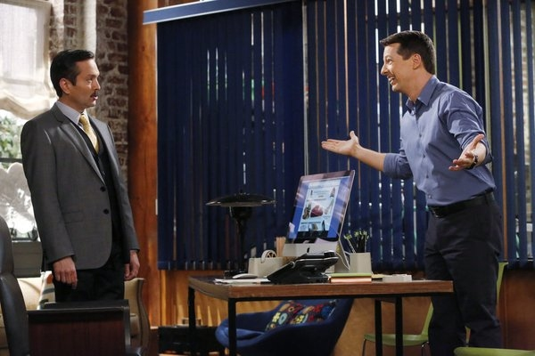 Thomas Lennon as Max, Sean Hayes as Sean -- (Photo by: Vivian Zink/NBC)