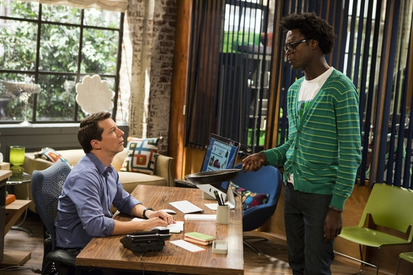 Pictured: (l-r)  Sean Hayes as Sean, Echo Kellum as Hunter -- (Photo by: Justin Lubin/NBC)