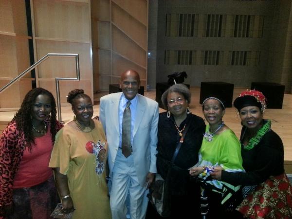 Photo Flash: Harry Belafonte Visits THOKOZA at Baruch Performing Arts Center