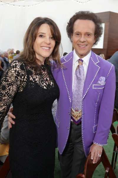 Presenter Marianne Williamson, Founder of Project Angel Food, with fitness guru Richard Simmons.