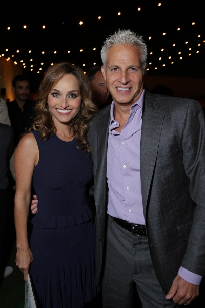Honoree Giada De Laurentiis, recipent of the inaugural Iconic Chef Award with Robert Bauer, Chairman of Project Angel Food''s Board of Directors.
