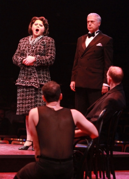 Chris Newcomer (Mary Sunshine) and Tom Hewitt (Billy Flynn)