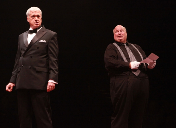Tom Hewitt (Billy Flynn) and Ric Stoneback (Amos Hart)