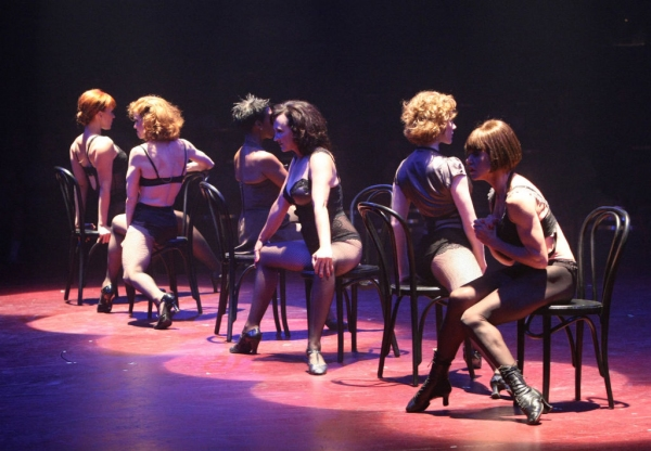 Evelyn Christina Tonn (Annie), Leslie Stevens (June), Brenda Braxton (Velma Kelly) Christine Bokhour (Liz), Melanie Waldron (Mona) and Kathryn Mowat Murphy (Hunyak)
