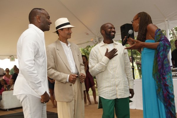Reginald Van Lee, Evidence Chair Emeritus, Khephra Burns, Ronald K. Brown, Artistic Director, Evidence, A Dance Company