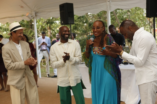 Khephra Burns, Ronald K. Brown, Artistic Director, Evidence, A Dance Company, Susan L. Taylor, and Reginald Van Lee, Evidence Chair Emeritus
