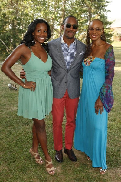 Susan L. Taylor (r) and guests