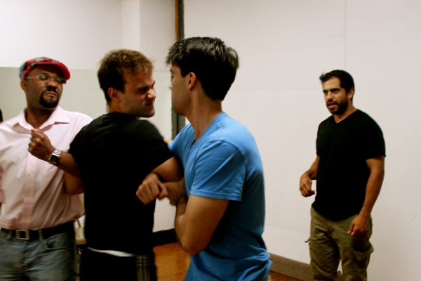 Photo Flash: In Rehearsal with the Cast of JULIAN & ROMERO at Theater for the New City, Begin. 9/3