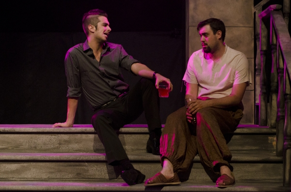 Joey Richter as Satan and Reed Campbell as Judas Iscariot in The Last Days of Judas Iscariot.