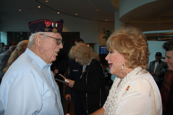 Former POW Ed Friese and Ruta Lee at the LA Premiere of Never The Same