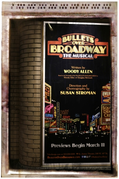 FREEZE FRAME: BULLETS OVER BROADWAY in Shubert Alley!
