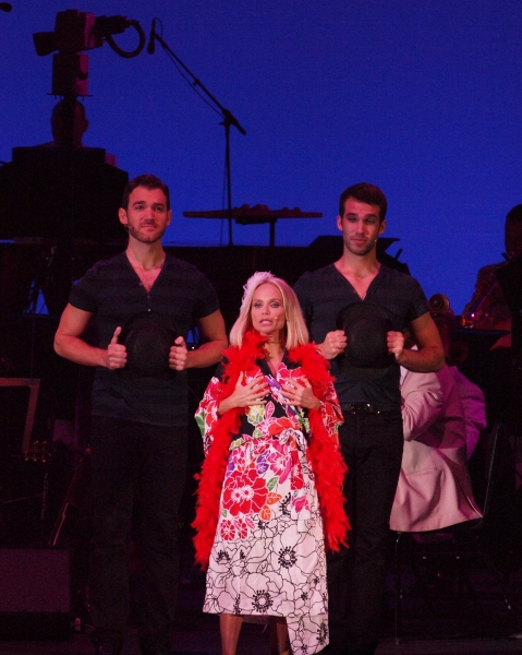 Kristin Chenoweth, Constantine Germanacos and Johnny Stellard