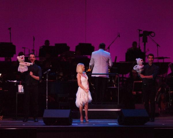 Kristin Chenoweth, Constantine Germanacos and Johnny Stellard