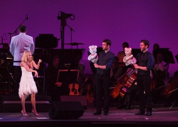 Jennifer Diamond, Kristin Chenoweth, Constantine Germanacos and Johnny Stellard