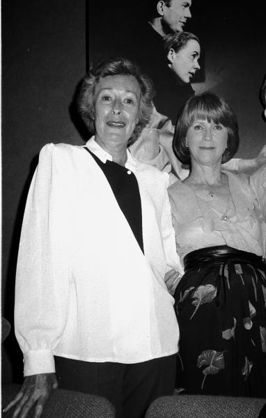 Eileen Heckart and Julie Harris