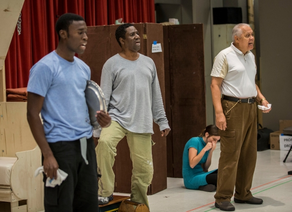 Tosin Morohunfola (Cephas Sykes), Cleavant Derricks (Sylvester Sykes) and Larry Marshall (Monroe Sykes)