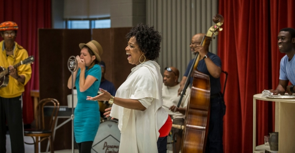 Chic Street Man (Professor Slick), Claire Kander (Lutie), E. Faye Butler (Sister Juba), Senuwell L. Smith (Twist), Anderson Edwards (Shorty) and Tosin Morohunfola (Cephas Sykes)