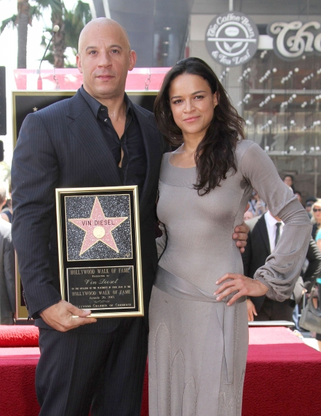Mandatory Credit: Photo by BEImages/Jim Smeal (1688859as)Vin Diesel and Michelle RodriguezVin Diesel honoured with star on the Hollywood Walk of Fame, Los Angeles, America - 26 Aug 2013