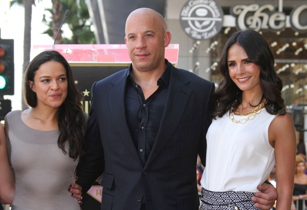 Mandatory Credit: Photo by BEImages/Jim Smeal (1688859i)Jordana Brewster, Vin Diesel and Michelle RodriguezVin Diesel honoured with star on the Hollywood Walk of Fame, Los Angeles, America - 26 Aug 2013