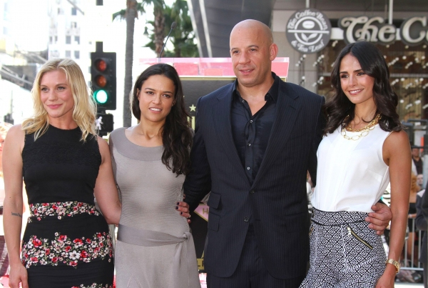 Mandatory Credit: Photo by BEImages/Jim Smeal (1688859w)Katee Sackhoff, Jordana Brewster, Vin Diesel and Michelle RodriguezVin Diesel honoured with star on the Hollywood Walk of Fame, Los Angeles, America - 26 Aug 2013