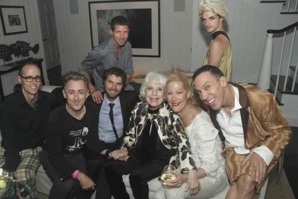 Grant Shaffer, Alan Cumming, Lance Horne, Justin V Bond, Carol Channing and Daniel Nardicio