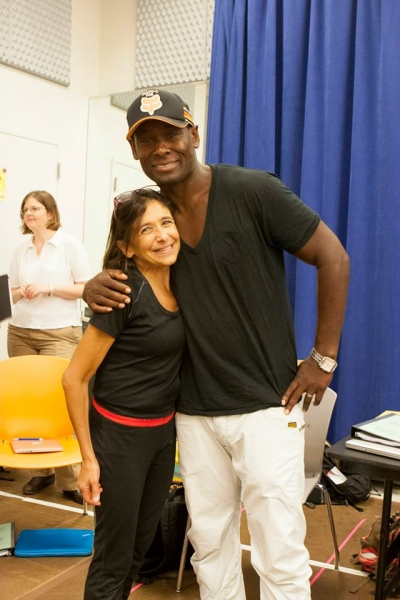 Kathryn Hunter (Puck) and David Harewood (Oberon)