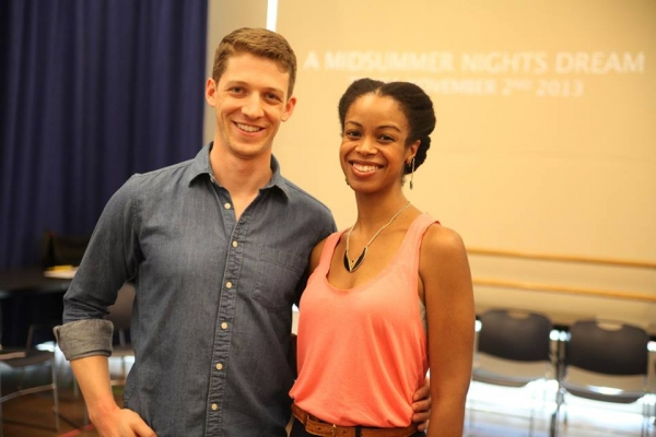 Zach Appelman (Demetrius) and Mandi Masden (Helena)