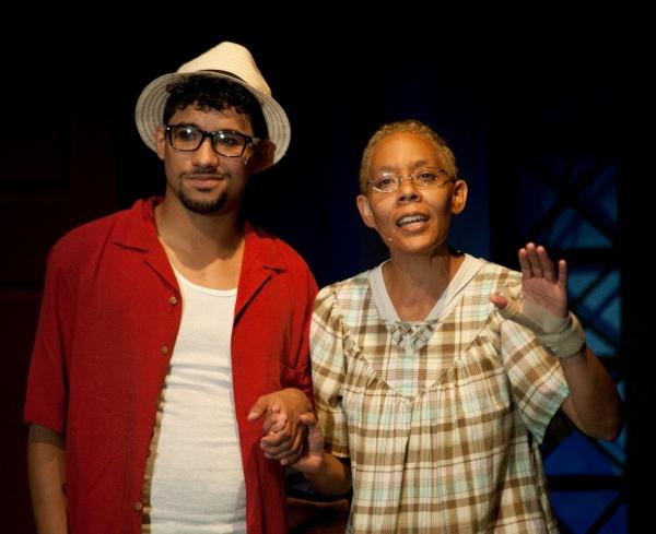 Alejandro Roldan as Usnavi and Marisa Dannielle Herbert as Abuela Claudia