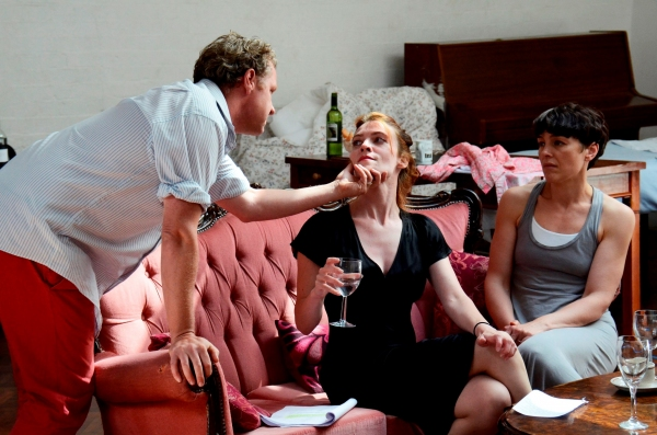 Shane Attwooll (Peter), Aislinn Sands (Katrina) and Olivia Williams (Marianne)