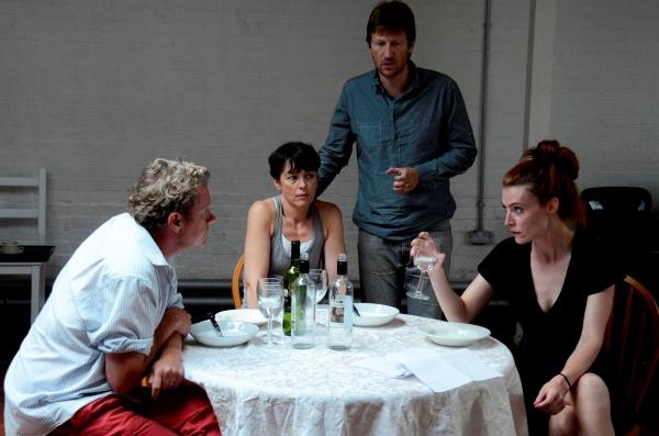 Shane Attwooll (Peter), Olivia Williams (Marianne), Mark Bazeley (Johan) and Aislinn Sands (Katrina)