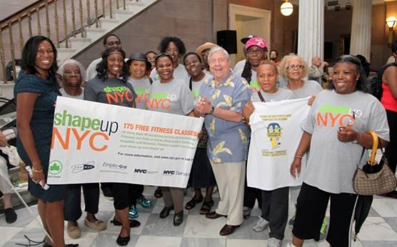 Brooklyn Borough President Marty Markowitz joins Deputy Brooklyn Borough President Sandra Chapman (left)