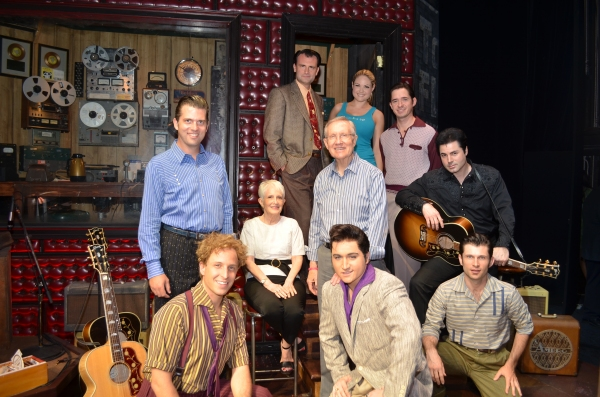 Senator Harry Reid and wife with the cast of MILLION DOLLAR QUARTET