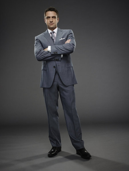 Raul Esparza as ADA Rafael Barba -- (Photo by: James Dimmock/NBC)