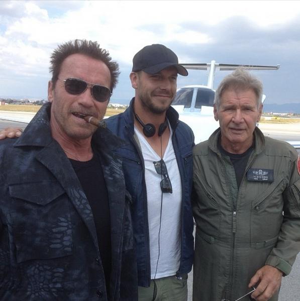 Arnold Schwarzenegger, Patrick Hughes, Harrison Ford