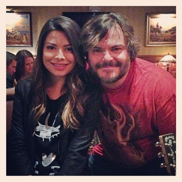 Miranda Cosgrove and Jack Black at the SCHOOL OF ROCK 10-Year Reunion