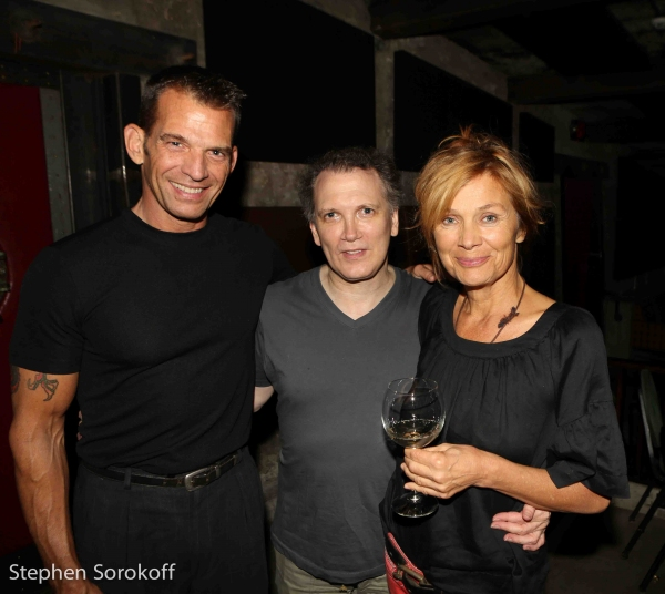 Tom Judson, Charles Bush, Doborah McDowell ,owner Helsinki Hudson Photo