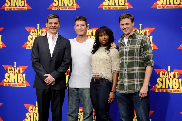 Nigel Harman, Simon Cowell, Cynthia Erivo and Alan Morrissey