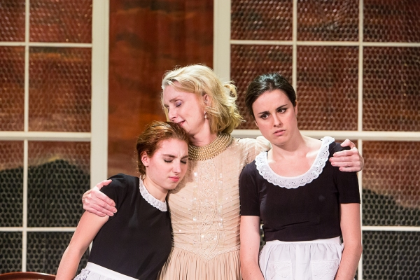 Emma Nissenbaum, Katherine Almquist as Madame, and Kelly McMurray