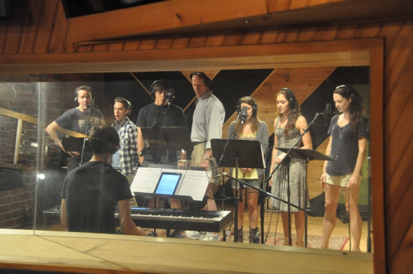 Brian Munn, Michael Wartella, Derek Klena, Michael DeVries, Carla Stickler, Emily Mechler, Amanda Rose with Musical Director Ben Cohn