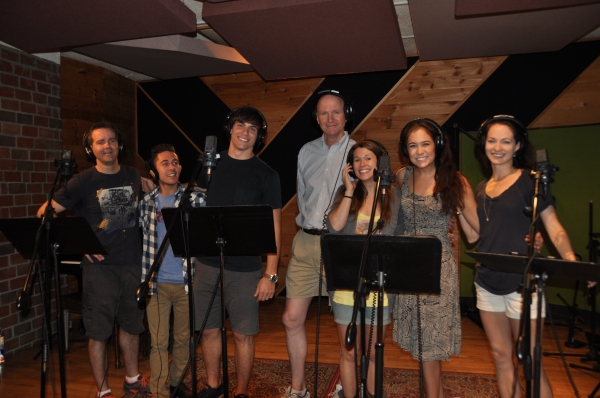 Brian Munn, Michael Wartella, Derek Klena, Michael DeVries, Carla Stickler, Emily Mechler and Amanda Rose
