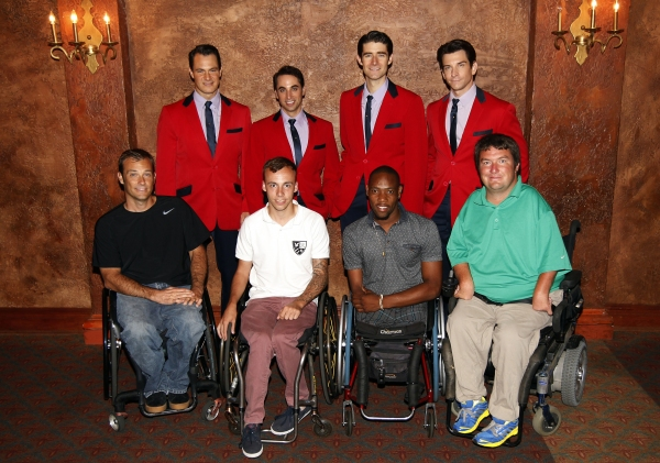 Photo Flash: US Open Wheelchair Tennis Athletes Visit JERSEY BOYS