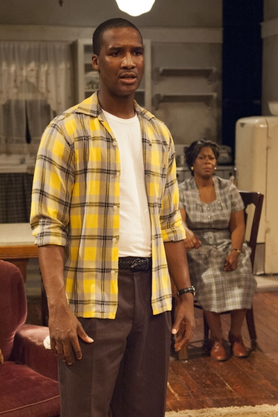 Walter Lee Younger (Jerod Haynes, left) and Lena ''Mama'' Younger (Greta Oglesby) have different ideas about how to give their family a better life.