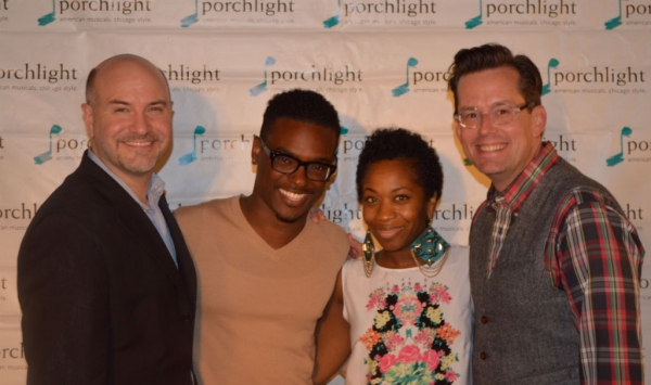 Porchlight Artistic Director Michael Weber, this season''s Ain''t Misbehavin'' Musical Director Jaret Landon, Star of Lady Day Alexis J. Rogers  and Artistic Associate,  Rob Lindley, director for Lady Day and this season''s How to Succeed in Business With