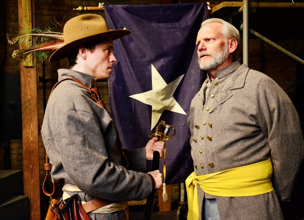 Zach Livingston as Major General James E. B. Stuart and Don Bender as General Robert  Photo