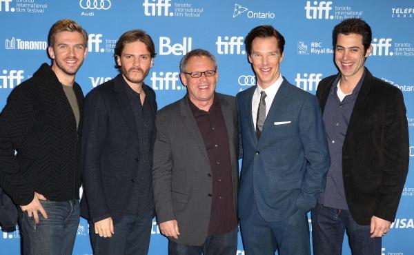 Dan Stevens, Daniel Bruhl, Bill Comdon, Benedict Cumberbatch and Josh Singer
