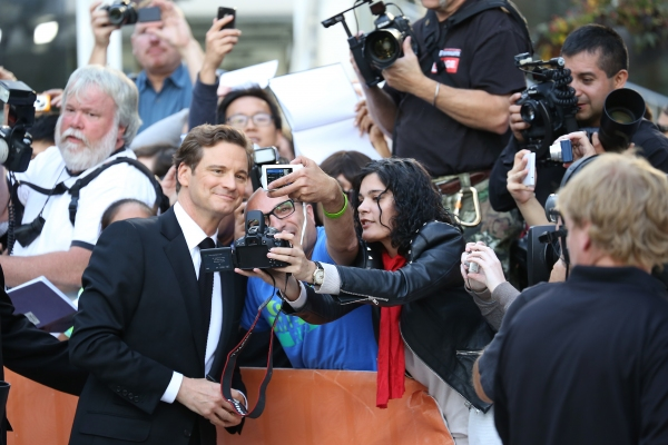Colin Firth and fans