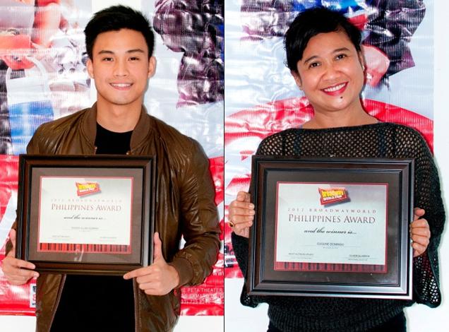 Photo Coverage: Eugene Domingo, Edgar Allan Guzman Accept BWW Awards