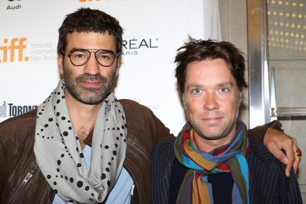 Rufus Wainwright (R) with partner Jorn Weisbrodt