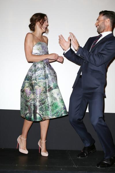 Keira Knightley and Adam Levine